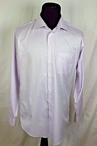 Pronto Uomo Men's Fitted 16 1/2 36/37 Tall Long Sleeve Button Front Dress Shirt