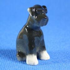 Schnauzer Dog Figurine Lomonosov Porcelain Russia LFZ