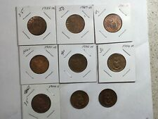 RB UNC MS 1925 1927 1931 1934 1936 1940, 3 x 1944 s m p Philippines One Centavo