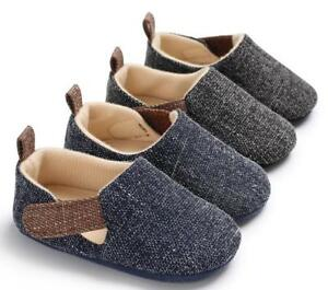 New Arrived Baby Boy Crib Shoes Toddler Pre Walking Trainers 3 6 9 12 18 Months