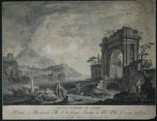 Vue Des Environs De Naples. Copperplate Approx. 1780 From Longueil After Mettay