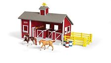 Breyer Stablemates Red Stable Set Including 2 Horses - 132 Scale Model
