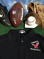 Black hawks red baseball Atlanta Falcons colors XL extra large Polo shirt c18