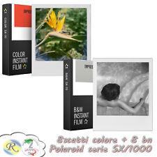 IMPOSSIBLE Pellicole Polaroid SX70 SX-70 per 1000 2 pacchi col/bn