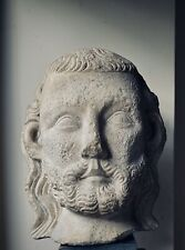 Italian Medieval Marble Bust of a Man Circa 15th c