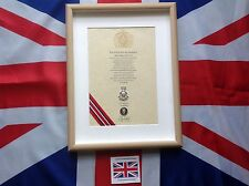 Oath Of Allegiance Yorkshire Volunteers  (framed with Cap Badge)