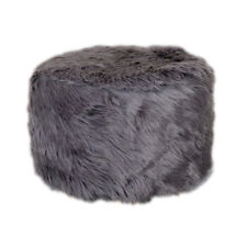 Soft & Comfy Stool Round Plush Covers Replacement for Home/Coffee House Gray