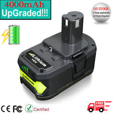 NEW! For P108 Ryobi P104 18V One + Plus Lithium Ion High Capacity Battery 4.0ah
