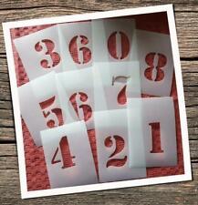 Schablonen Set 1 -0 Ziffern Zahlen Vintage Schriftschablonen Alphabet Buchstaben