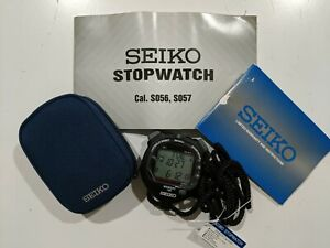 SEIKO StopWatch Timekeeper Sports Digital Watch S23601P MSRP 145$