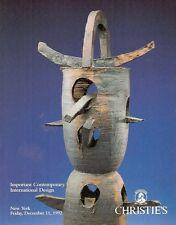 Christie's Sale 7584 Imp. Contemporary International Design Auction Catalog 1992