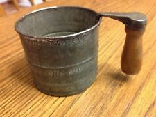 Primitive Vintage Metal  Flour Sifter Made By Erickson Des Moines