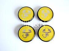 "Nabendeckel gelb (Satz), wheel centres yellow, coprimozzi CD167 ""ABARTH"", Coupe"