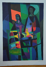 """Marcel Mouly """"Les Deux Aisatiques"""" Limited Signed Numbered Lithograph  + COA"""