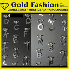 Pendente letterina in oro bianco 18K - lettere iniziali