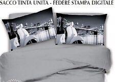 Copripiumino Matrimoniale MOTO VESPA GRIGIO digitale sacco copripiumini