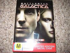 Battlestar Galactica Season 2 L.E. Metal Slip DVD's Region 2,4 Australia Sealed!