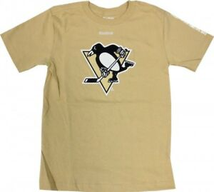 Pittsburgh Penguins Reebok NHL Youth Logo Gold T-Shirt