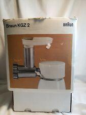 BRAUN KGZ 2 Meat Grinder Accessory Parts Fits KM32 Mixer Or MX32 VTG w/ Box