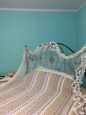 """Vintage Queen Bed Chanel Canopy Hand Tied Fish Net 91 X 60"""""""