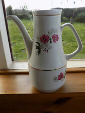 Vintage Retro Wood & Son Ironstone Alpine White Coffee Pot c1960's