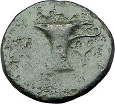 KYME in AEOLIS   Original 350BC Authentic Ancient Greek Coin EAGLE & VASE i63061