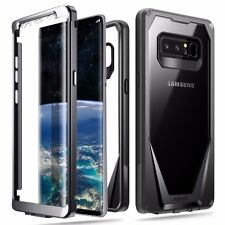 Galaxy Note 8 Case Full-Body Hybrid Bumper Shockproof Protetive Cover Black