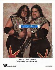 WWF PROMO PHOTO THE HEADSHRINKERS RIKISHI WWE 8x10 OFFICIAL BELTS PIC P-210