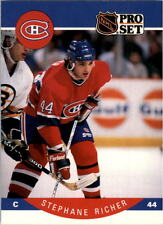1990-91 PRO SET HOCKEY STEPHANE RICHER CARD #156 MONTREAL CANADIENS NMT/MT-MINT