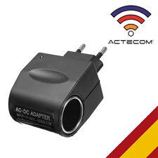 ACTECOM® Enchufe pared AC 220V a mechero DC 12V transformador casa coche carga
