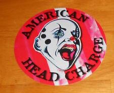 "American Head Charge The Feeding Sticker Original Promo Clown (circle)  4.5"""