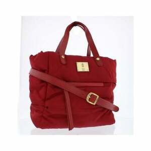 Fly London NEW Zeni red nylon quilted top handle shoulder padded bag handbag