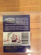 Adnams Broadside beer bottle label