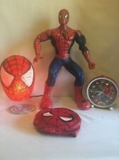 "Columbia Pictures SPIDER-MAN Moving/Talking Action HERO 14.5""  + Lamp Mask Clock"