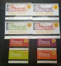 CPA Excel 2016 Flash Cards & Focus Notes - BEC-REG-AUD - Read Description!!!