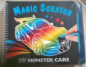 NEU: Kratzbuch Magic Scratch Monster Cars - Autos, Kratzbuch Junge