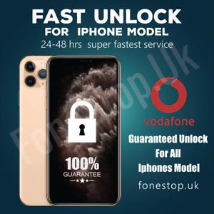 Vodafone Express Unlock Code service iPhone 8,7,7+ 6S 6 5S 5C 5 SE 4✅24-48 Hours