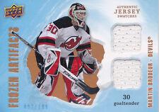 08-09 Frozen Artifacts Martin Brodeur /199 Dual Jersey Devils 2008