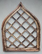 "Wooden Antique Style Church WINDOW Frame Primitive Wood Gothic 36""  Tall Shabby"