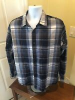 The North Face mens shirt blue white Plaid XL camping hiking long sleeve