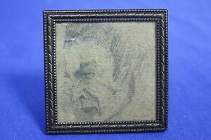 PORTRAIT Franz Marc * Selbstportrait? * Bleistiftzeichnung 6x6 cm (R1)