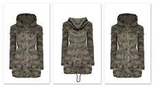 Women Camouflage Military Hooded Coat Zip Army Jacket Parka Outwear Windbreaker