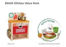 Plan Toys KITCHEN VALUE SET with Bonus Breakfast Set! Christmas Gift Role Play