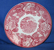 Enoch Woods Untertasse 14,2cm, English Scenery rot, weitere, Keramik