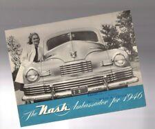 1946 Nash AMBASSADOR Brochure / Flyer / Catalog