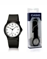 Casio Classic Unisex MQ24-7BLL White Dial Analogue Display and Black Resin Strap