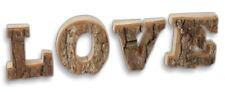 Deko Schrift Buchstaben LOVE - Kiefer mit Rinde Weihnachtsdeko Winterdeko 27 cm