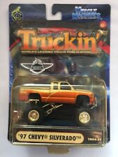 Muscle Machines Truckin' 1997 '97 Chevy Silverado Orange Pickup 1/64 Yellowed