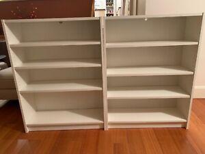 2 x Ikea 4 Shelf Billy Bookcases Used - Adjustable Shelves - 106cm x 80cm x 28cm