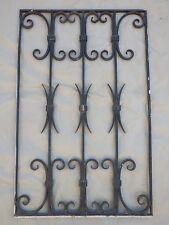 96 X 61 cm - Ancienne grille de porte en fer forgé